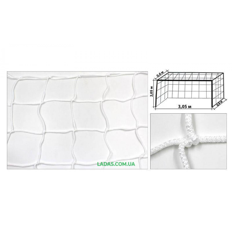 Сетка на ворота футзальная, гандбольная тренировочная (2шт) Стандарт UR (PP 3,5мм, ячейка 12см)