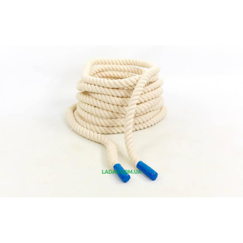Канат для кроссфита COMBAT BATTLE ROPE UR (хлопок, l-10м, d-2,6см)