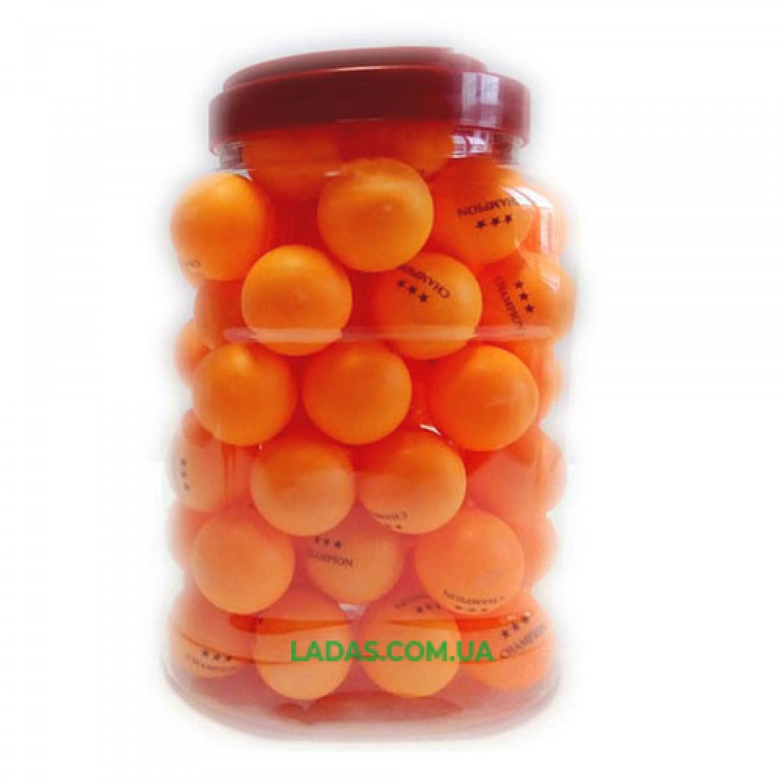 Шарики для настольного тенниса оранжевые Champion (60шт в банке)