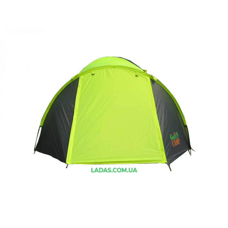 Палатка трехместная Green Camp GC-1011-2 на 2 входа