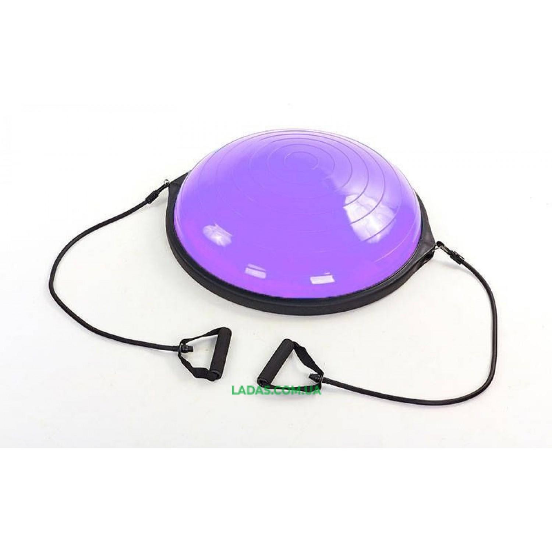 BOSU балансировочная платформа (пластик, резина, h-22см, d-63см, 6500гр, 2эсп., фиолет)