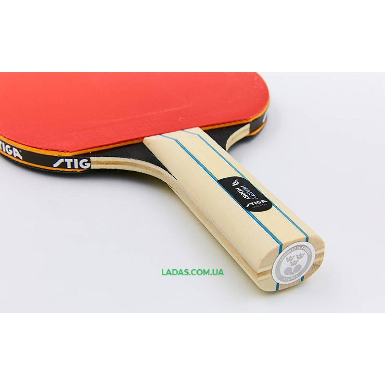 Ракетка для настольного тенниса 1 штука STIGA HEARTY HOBBY Реплика