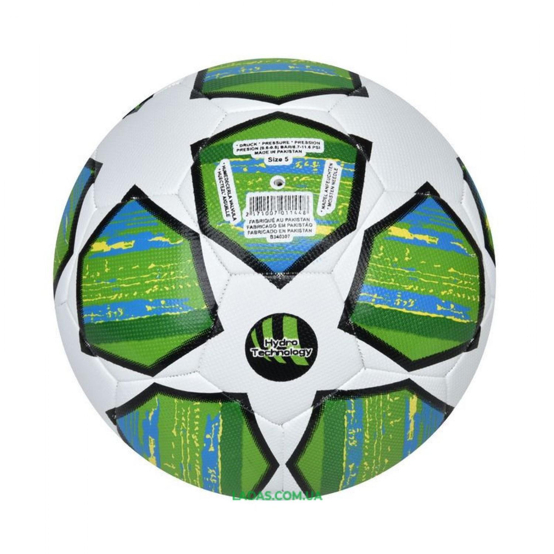 Мяч футбольный №5 PU HYDRO TECNOLOGY SHINE FINAL MADRID 2019 (сшит вручную)