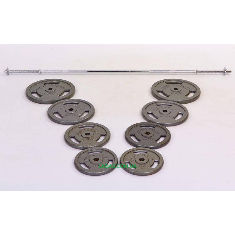 Штанга (стальные блины) 80кг TA-2431-80