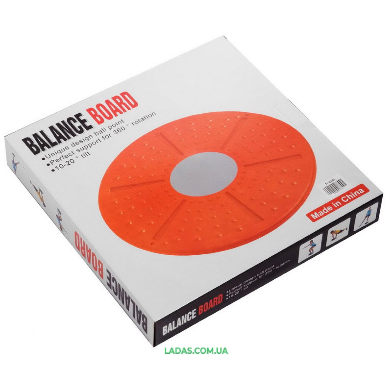 Диск балансировочный с лабиринтом BALANCE BOARD (пластик, d-36см)