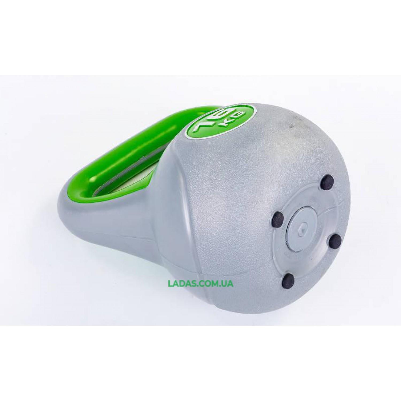 Гиря пластиковая TA-5734- 16 16кг (наполнение цемент)