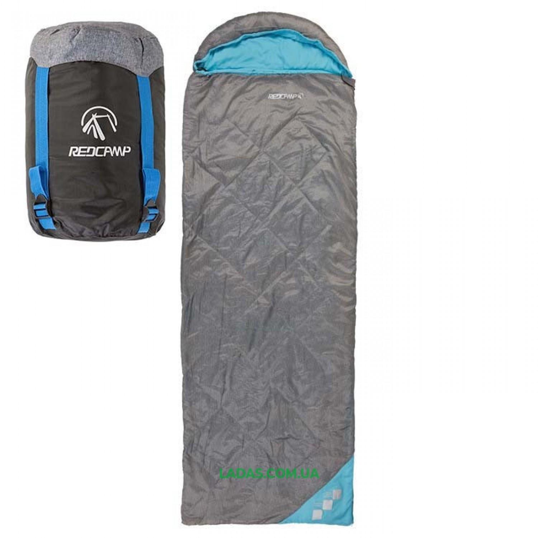 Спальный мешок с капюшоном и подушкой REDCAMP RC484/2-13BG (PL,200 на м2, р-р 210*75)