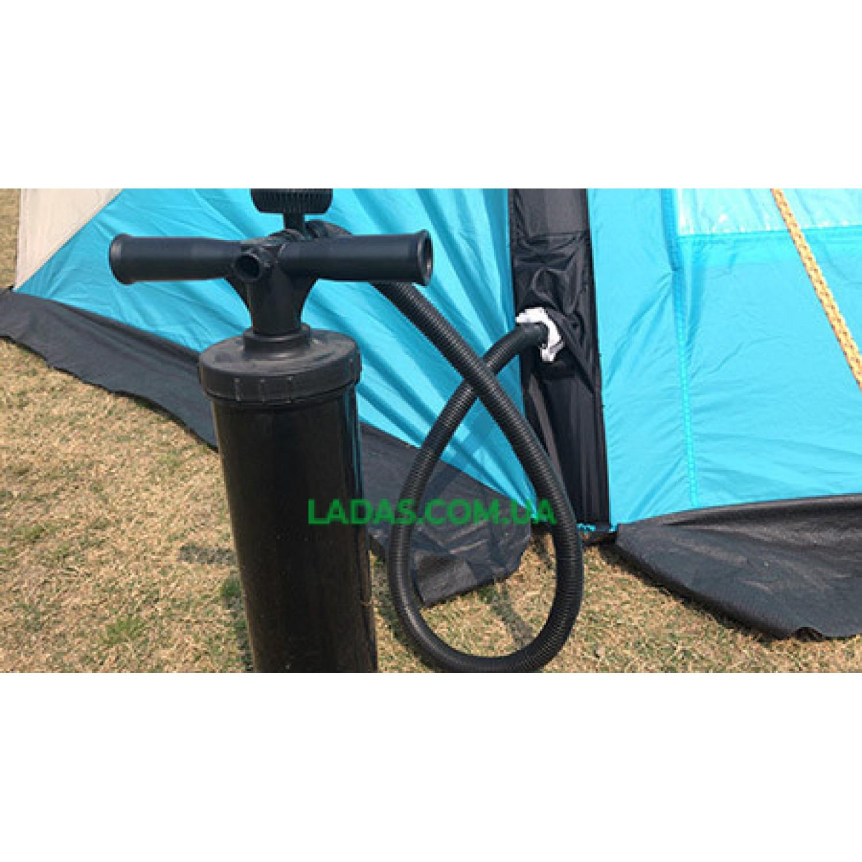 Палатка 3-х местная Mimir 800 , надувная( р-р 2.1х 2.1 х 1.45 м,вес: 6,5кг,цвет: голубой-серый)