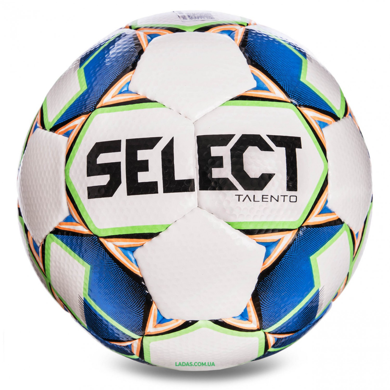Мяч футбольный №4 SELECT TALENTO (FPUS 1400, бело-синий)