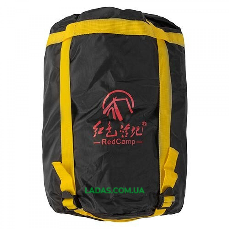 Спальный мешок с капюшоном REDCAMP RC484/1-14G (PL, 250 на м2, цвет синий-серый)