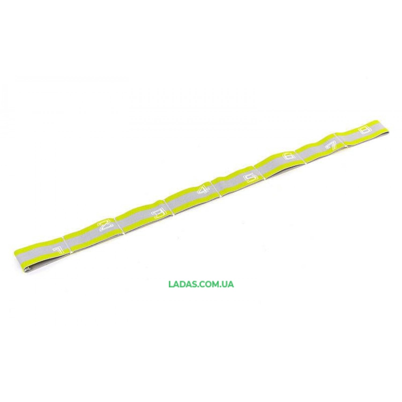 Ленточный эспандер (эластичная лента) Elastiband (PL, эластан, р-р 4х75см, лимонный)