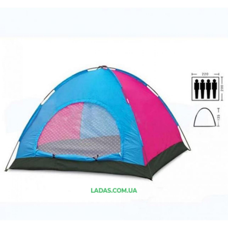 Палатка четырехместная однослойная(р-р 2х2,2х1,35м)