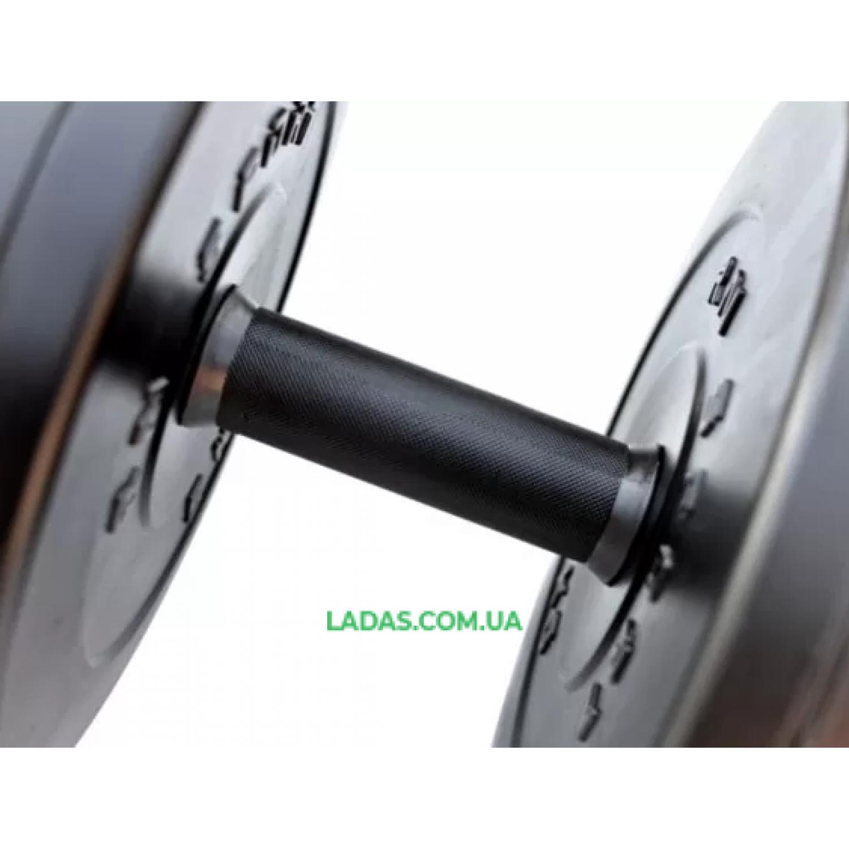 Гантель разборная RN-Sport Long 18 кг с пластиковым покрытием