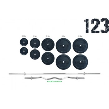 Штанга 115 кг + W-образный гриф