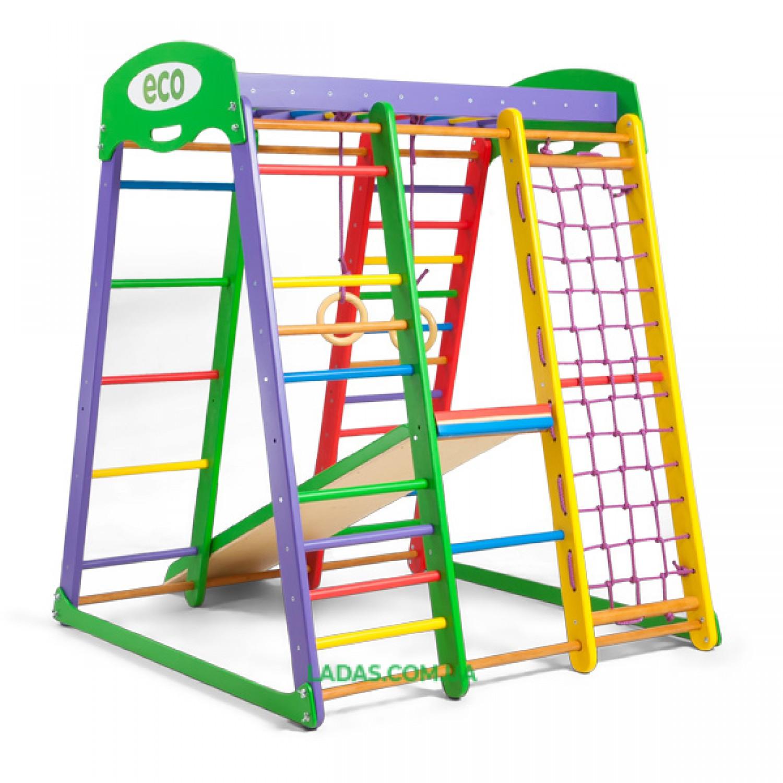 Детский игровой комплекс для дома Акварелька Мини с прямой горкой