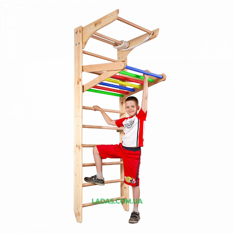 Шведская стенка для детей и взрослых Киндер-4-220. Разборная. Компактная для транспортировки.