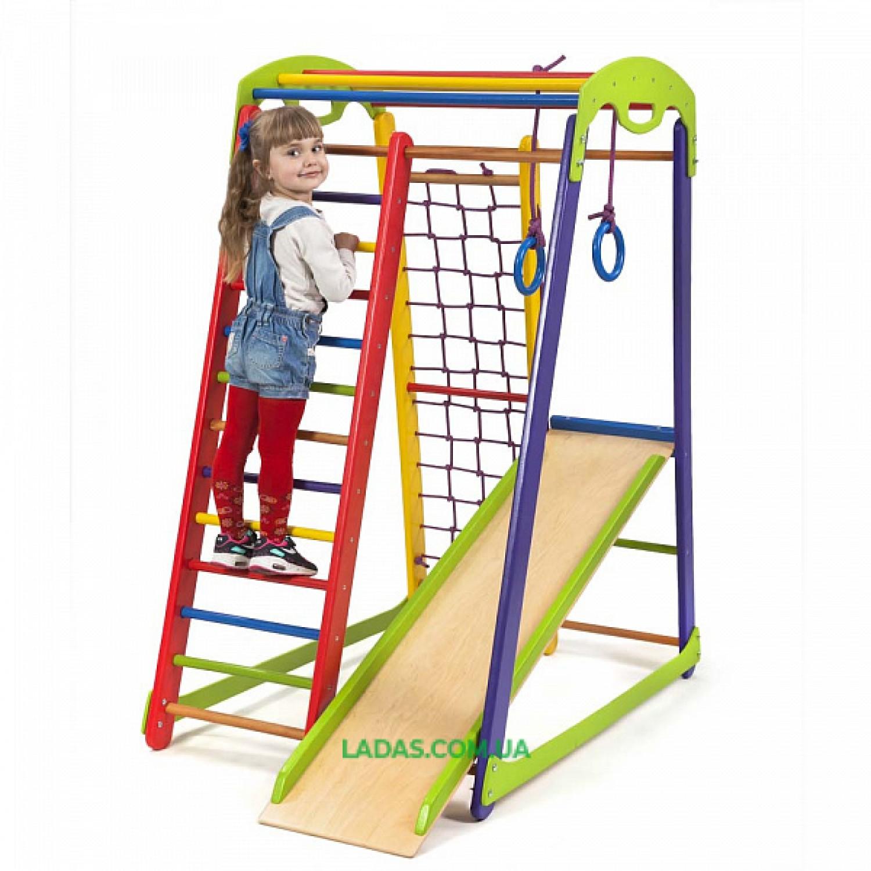 Детский спортивный комплекс раннего развития Кроха-1 Мини  с прямой горкой