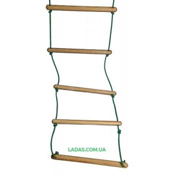 Веревочная лестница деревянная
