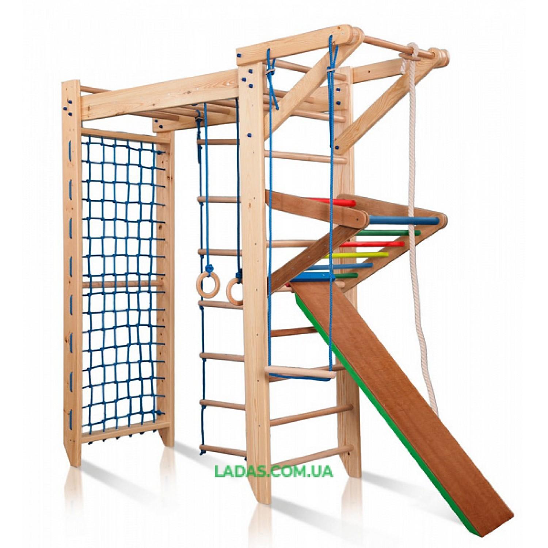 Деревянный детский П-образный спортивный комплекс Sport-5-220