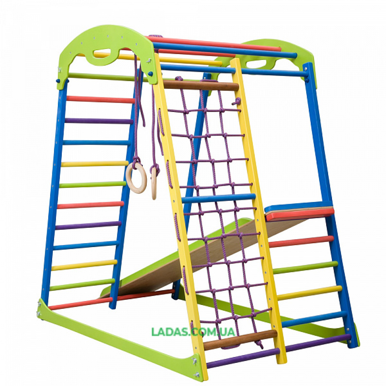 Детский спортивно-игровой комплекс для дома SportWood с прямой горкой