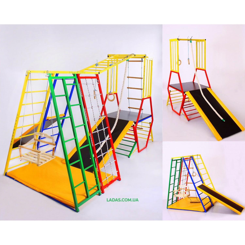 Детский игровой комплекс  Лабиинт1. Два комплекса Микро и Горка в одном.