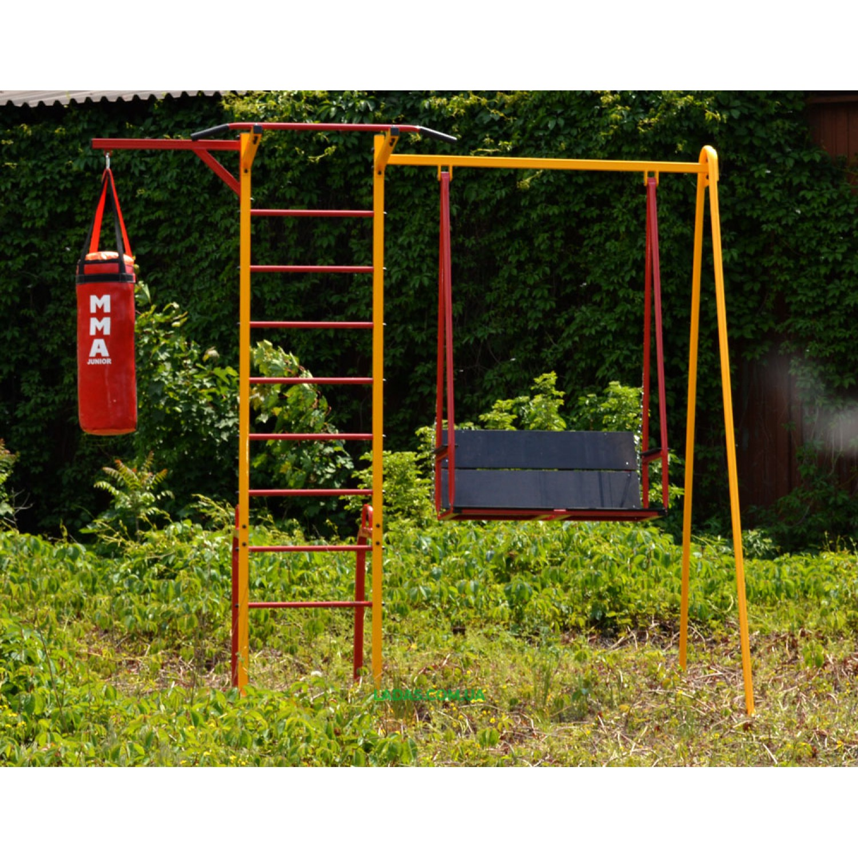 Спортивно-игровой комплекс Family с уличной шведской стенкой и качелей (под бетонирование)