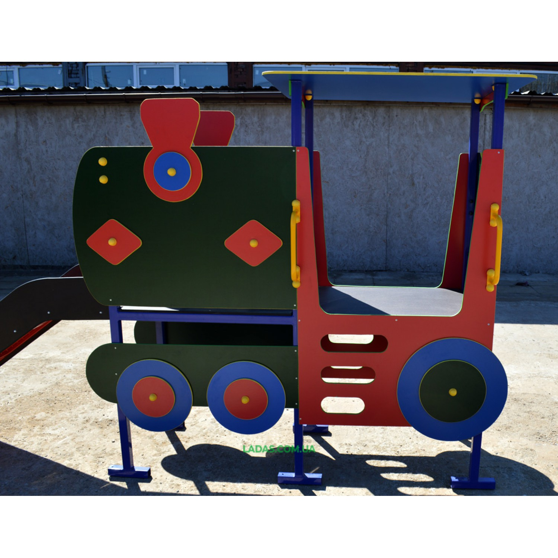 Уличная детская горка Паровоз (под бетонирование)