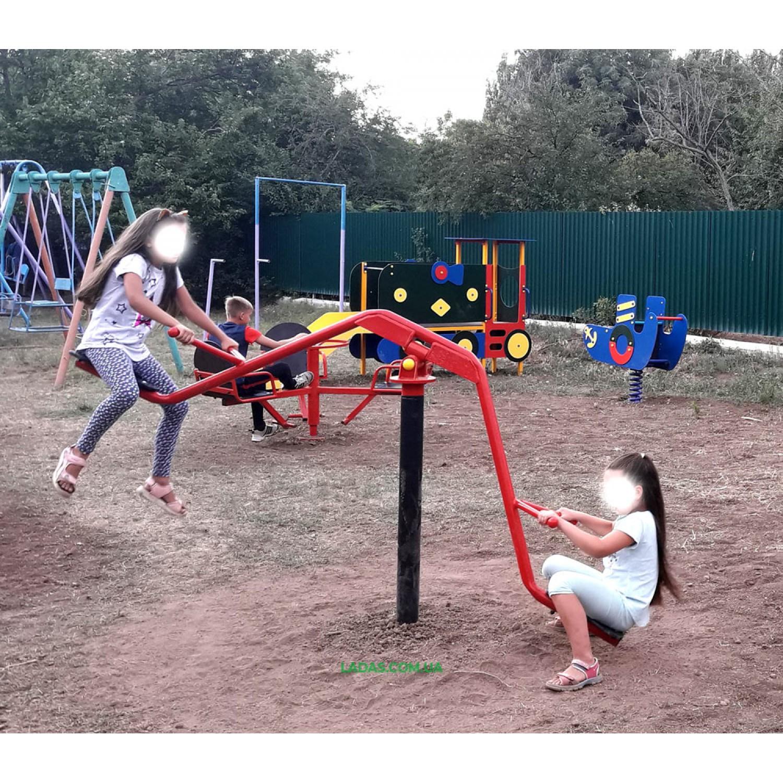 Уличная детская карусель-балансир 3D (под бетонирование)