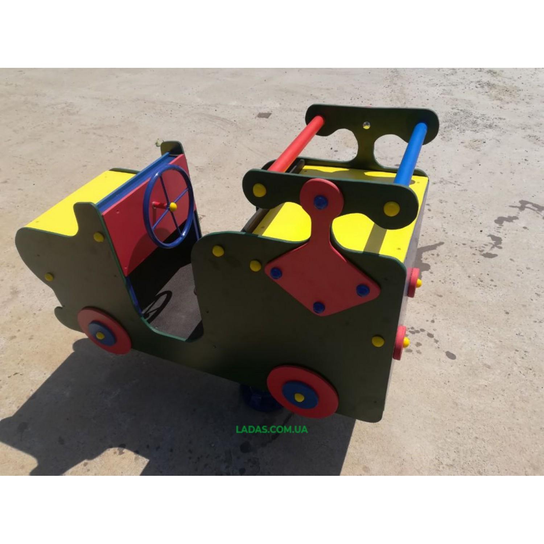 Качалка-балансир на пружине Машинка (под бетонирование)