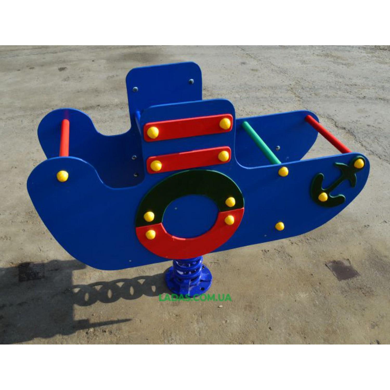 Качалка-балансир на пружине Кораблик (под бетонирование)