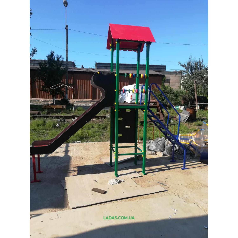 Детский игровой комплекс PlayGraund - 4 - металлическая горка (под бетонирование)