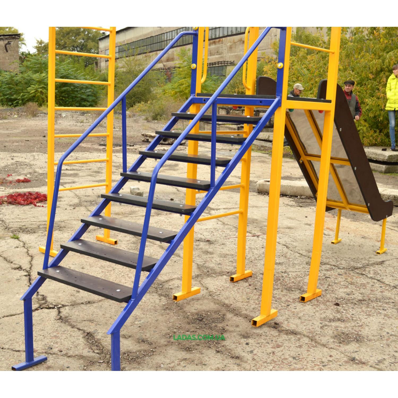 Детский игровая площадкаPlayGraund - 1 с горкой, качелей, рукоходом и шведской лестницей (под бетонирование)
